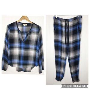 Cloth & Stone Anthro Pajama Lounge Set Size Small